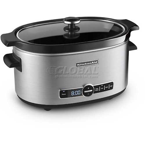 KitchenAid KSC6223SS Slow Cooker, Stainless Steel, Ceramic Insert, 6 Qt.  by