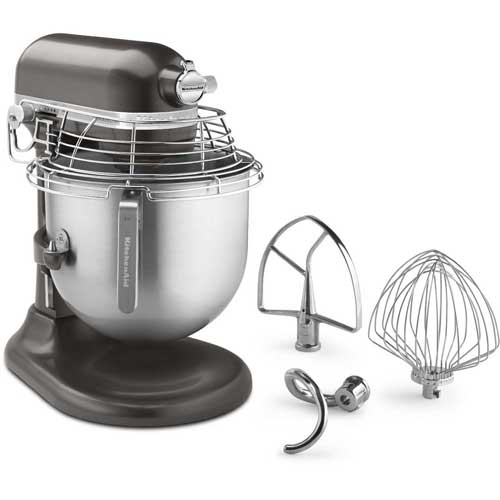 KitchenAid KSMC895DP Commercial 8 Qt. Stand Mixer With Bowl Guard, Dark Pewter, NSF by