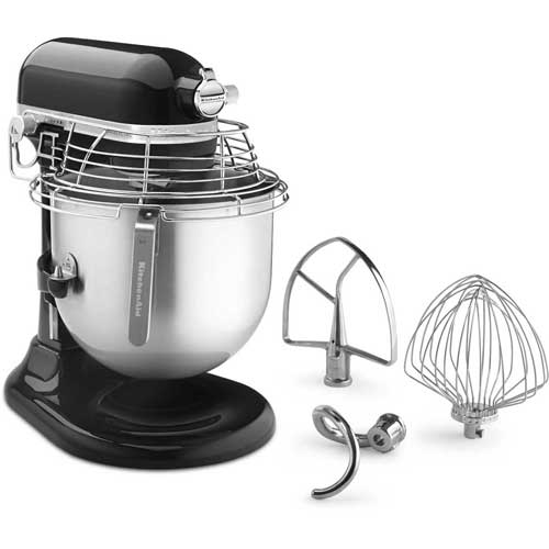 KitchenAid KSMC895OB Commercial 8 Qt. Stand Mixer With Bowl Guard, Onyx Black, NSF by