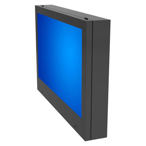 "Buy 55"" LCD TV / Plasma Monitor / Digital Signage Display Enclosure, Indoor/Outdoor Black"