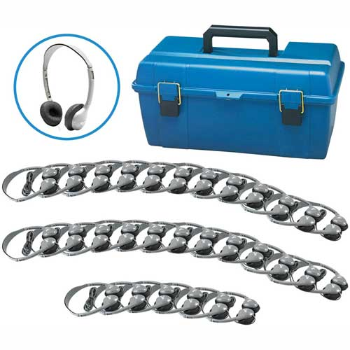 Buy HamiltonBuhl Lab Pack, 30 MS2L Personal Headphones in a Carry Case