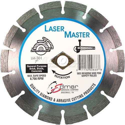 "Edmar 7"" Premium Segmented Saw Blade by"