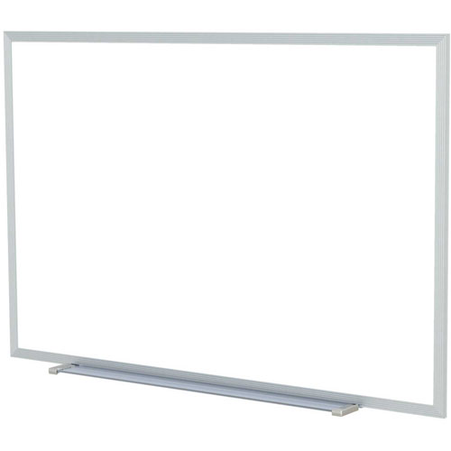 """Buy Ghent 60 x 48""""H Aluminum Frame Non-Magnetic Whiteboard w/1 Marker and Eraser, Made in USA"""