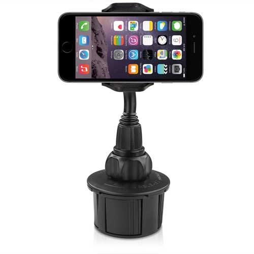 Macally Adjustable Automobile Cup Holder Mount for Smartphones and GPS by