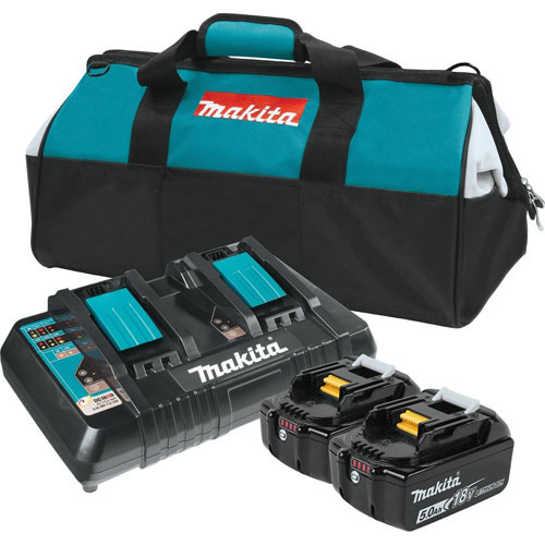 Buy Makita BL1850B2DC2X 18V LXT Lithium-Ion Batteries & Dual Port Charger Starter Pack (5.0Ah)