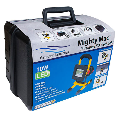 Mighty Mac Straits 27190004 LED Worklight Kit, Includes Work Light, Hard Case, Extra Battery by