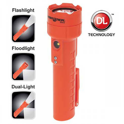 NightStick NSR-2522RM Rechargeable Magnetic Dual-Light Flashlight Package Count 2 by