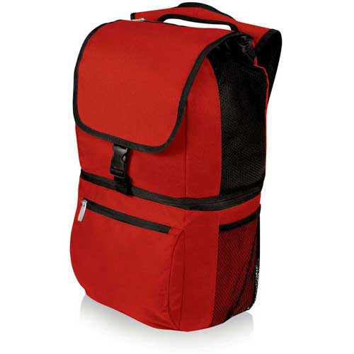 Click here to buy Picnic Time Zuma Insulated Cooler Backpack, Red.