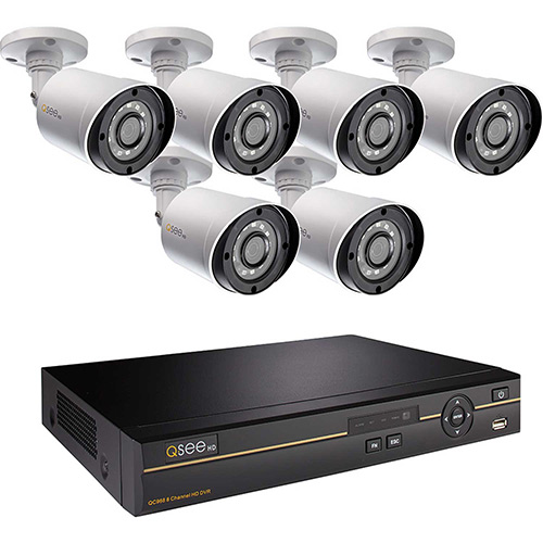 Click here to buy Q-See 8 Channel AHD DVR With 6 4MP Bullet Cameras, 2TB HDD, QC968-6DX-2.
