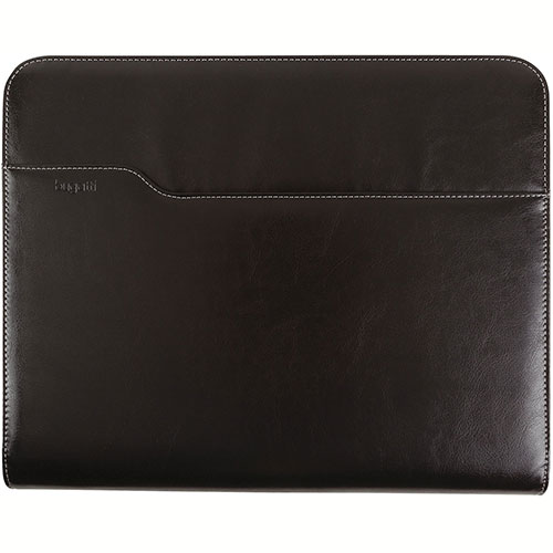 Bugatti JRN6091 Synthetic Leather Journal w/ O-Ring Binder, Black by