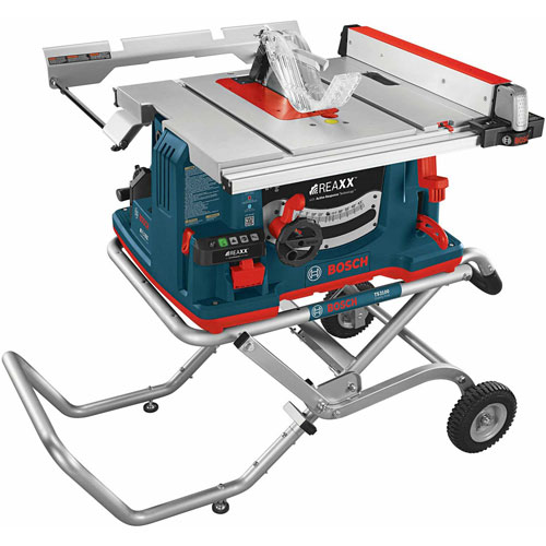 Bosch GTS1041A-09 REAXX Flesh-Detecting Jobsite Table Saw w/Gravity-Rise Wheeled Stand by