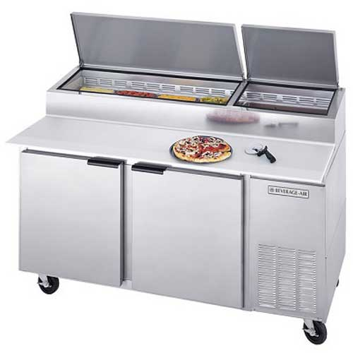 "Beverage-Air Commercial Refrigeration 67"" Pizza Prep Table DP67 by"