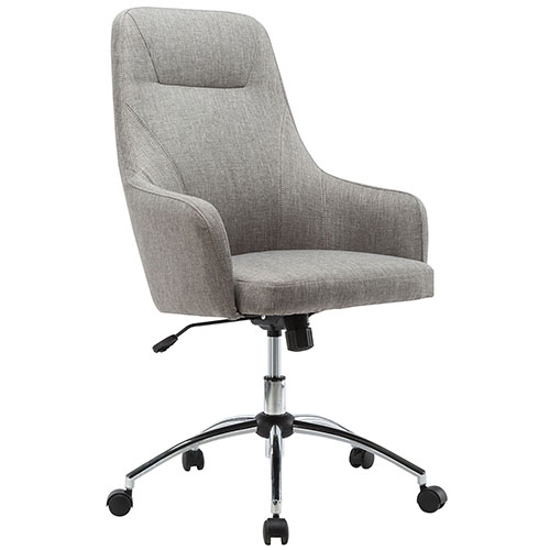 Techni Mobili Comfy Office Desk Chair High Back Fabric Gray by