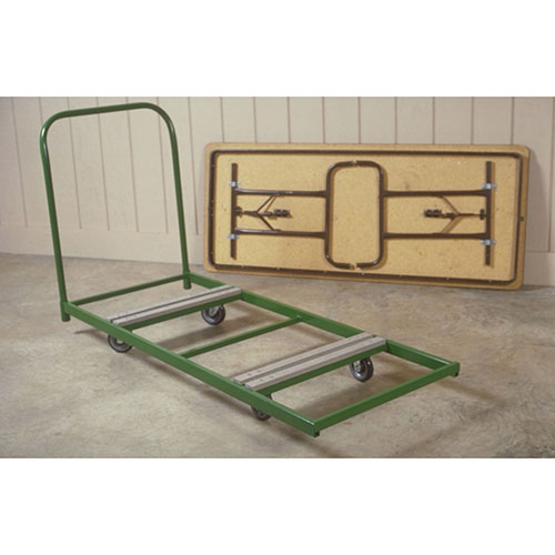 Fairbanks Dolly for Rectangular Folding Tables Green 12 Table Capacity by