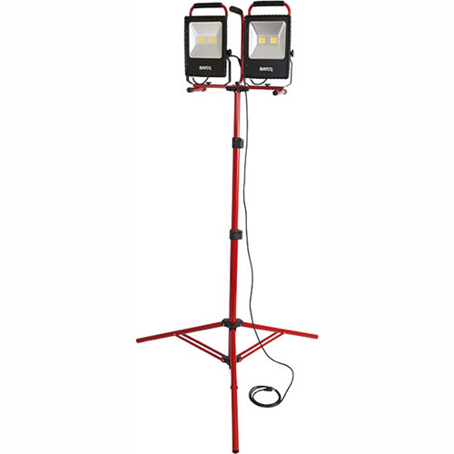 Bayco SL-1530 Portable LED Dual Worklights w/8' Tripod, 50Wx2, 10000 Lumens, 5000K by