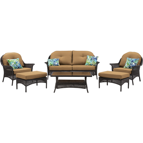 Hanover San Marino 6-Piece Patio Set, Country Cork by