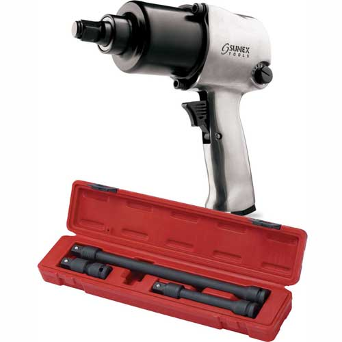 """Sunex Tools SX231P, 1/2"""" Impact Wrench W/ FREE 3 Piece 1/2"""" Drive Locking Impact Extension Set, 2501 by"""