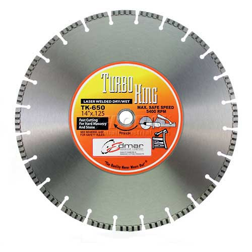 "Edmar 12"" Turbo Segmented Laser Welded High-Speed Saw Blade by"