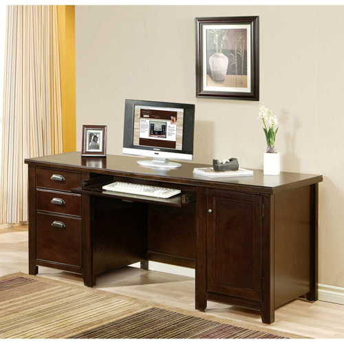 Martin Furniture Cherry Computer Credenza Tribeca Loft Office Series by