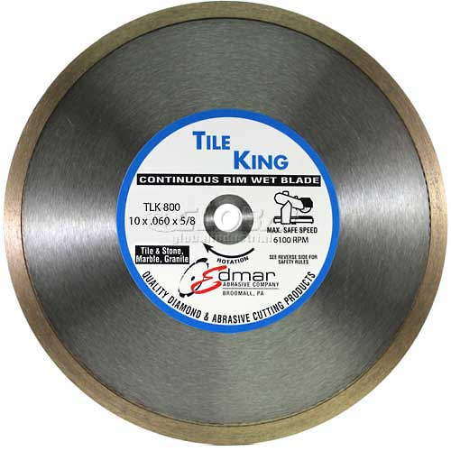 "Edmar 10"" Premium Continuous Rim Wet Saw Blade by"