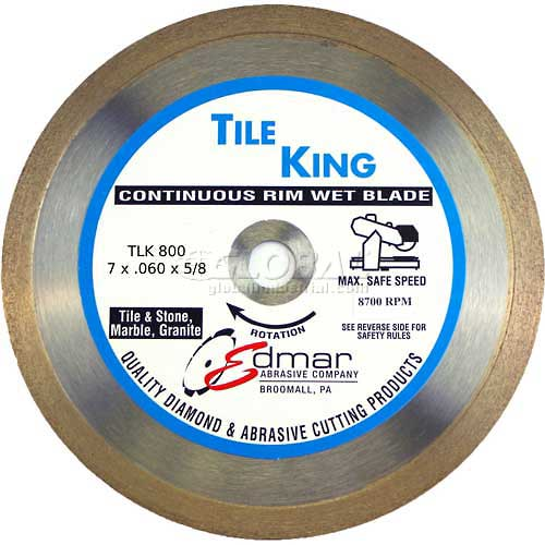 "Edmar 7"" Premium Continuous Rim Wet Saw Blade by"