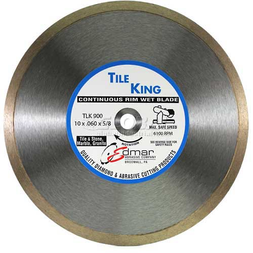 "Edmar 10"" Super Continuous Rim Wet Saw Blade by"