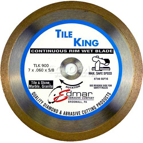 "Edmar 7"" Super Continuous Rim Wet Saw Blade by"