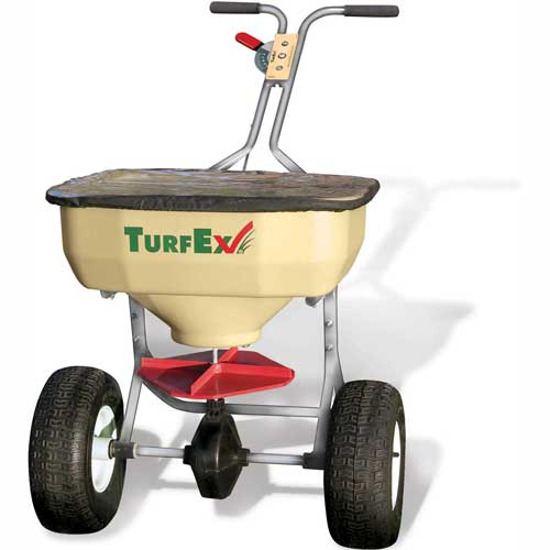 Click here to buy 120 Lb. Capacity Heavy Duty Stainless Steel Push Spreader TS65SS.