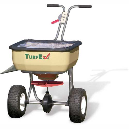 TurfEx 120 Lb. Capacity Heavy Duty Push Spreader Stainless Steel Frame TS85SS by