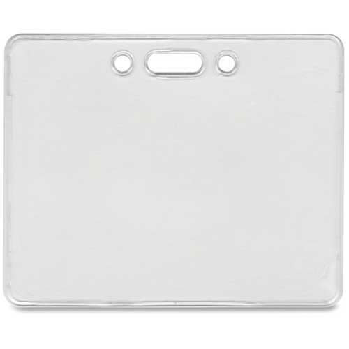 "Advantus Proximity ID Badge Holder, Horizontal, 3-3/8"" x 2-3/8"", Clear, 50/Pack by"