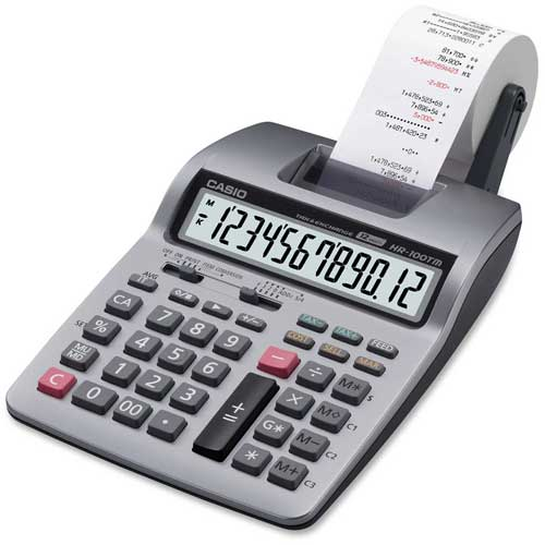 Buy Casio HR-100TM Two-Color Portable Printing Calculator, 12-Digit LCD, Black/Red