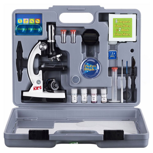 Buy AmScope M30-ABS-KT2-W AMSCOPE-KIDS 52-Piece Microscope Kit with Accessory Set & Case