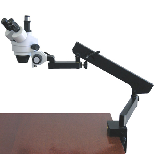 Buy AmScope SM-6TZ 3.5X-90X Trinocular Articulating Zoom Microscope with Clamp