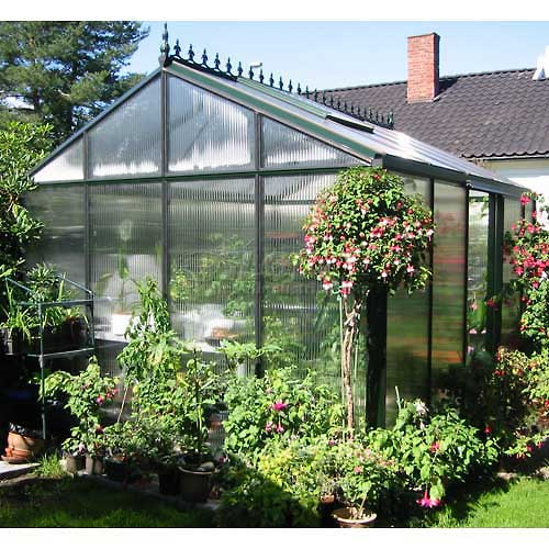 "Royal Victorian VI 34 Polycarbonate Greenhouse, 15'L x 10' 2""W x 9'H by"
