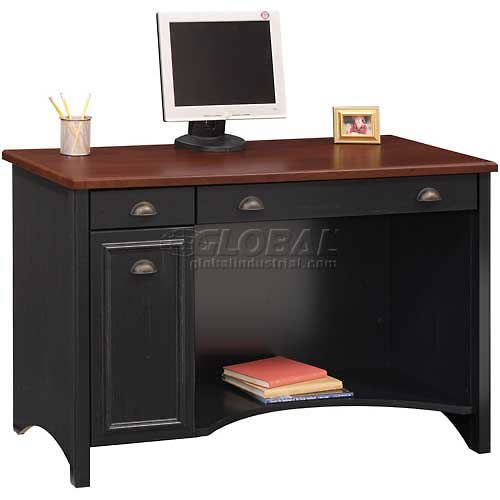 Bush Furniture Computer Desk Antique Black / Hansen Cherry Stanford Series by