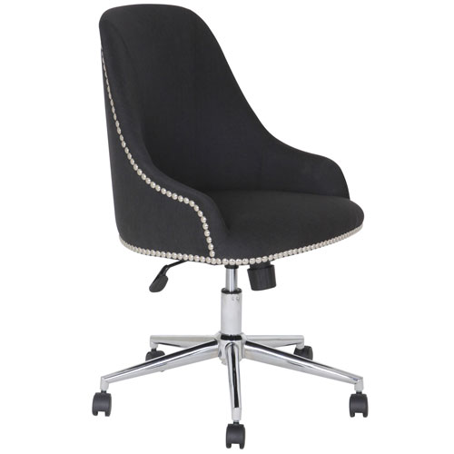 Boss Carnegie Desk Chair Fabric Black by