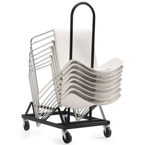 Global Chair Dolly for Popcorn Series Stacking Chair Stacks Up to 34 Chairs by