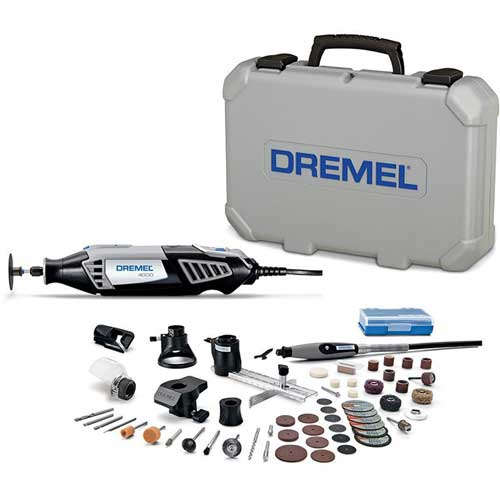 Dremel 4000-6/50 4000-Series Variable Speed Rotary Tool Kit w/ 6 Attachments & 50 Accessories by