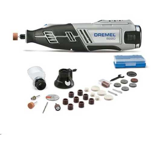 Dremel 8220-2/8 8220-Series Cordless Rotary Tool Kit w/ 2 Attachments, 28 Accessories by