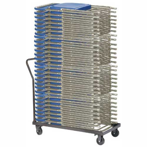Chair Cart For Folding Chairs Horizontal Stack 36 Chair Capacity by
