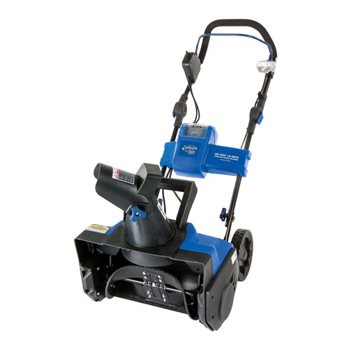 "Snow Joe 18"" Cordless Snow Thrower, iON 40 V 4.0 Ah Battery ION18SB by"