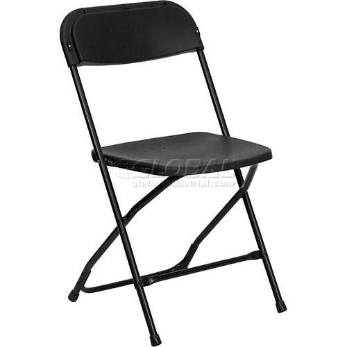 Flash Furniture Plastic Folding Chair Black Package Count 10 by