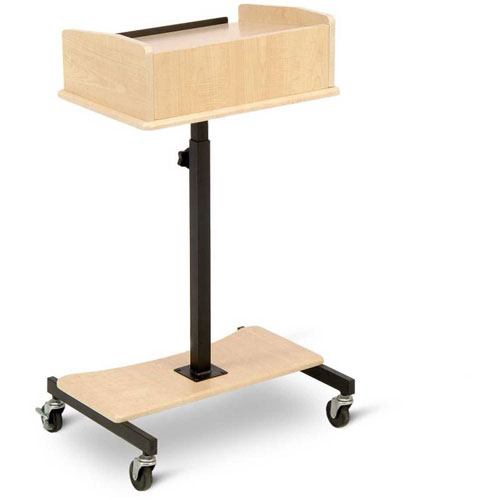 Buy Laptop Speaker Stand With Slide Out Laptop Shelf, Maple