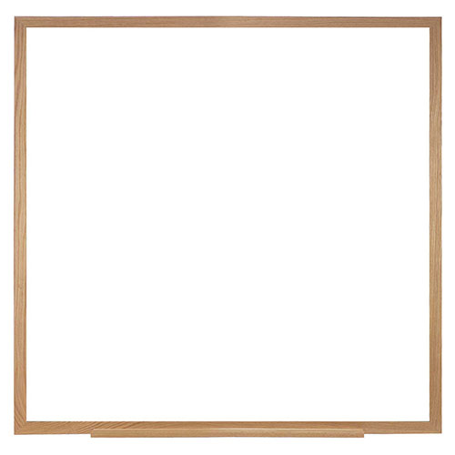 """Buy Ghent 48""""H x 48""""H Whiteboard with Wood Frame Non-Magnetic Includes Marker/Eraser USA Made"""