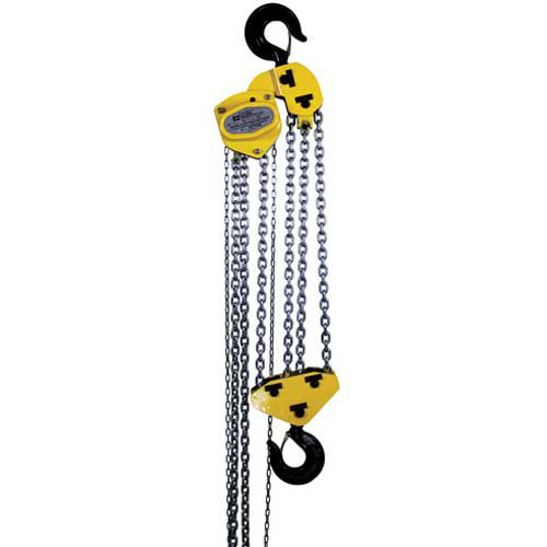 OZ Lifting Manual Chain Hoist w/ Std. Overload Protection 10 Ton Cap. 20' Lift by