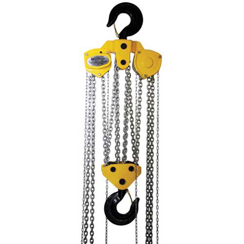 OZ Lifting Manual Chain Hoist With Std. Overload Protection 20 Ton Cap. 10' Lift by
