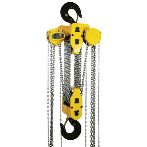 OZ Lifting Manual Chain Hoist With Std. Overload Protection 30 Ton Cap. 20' Lift by