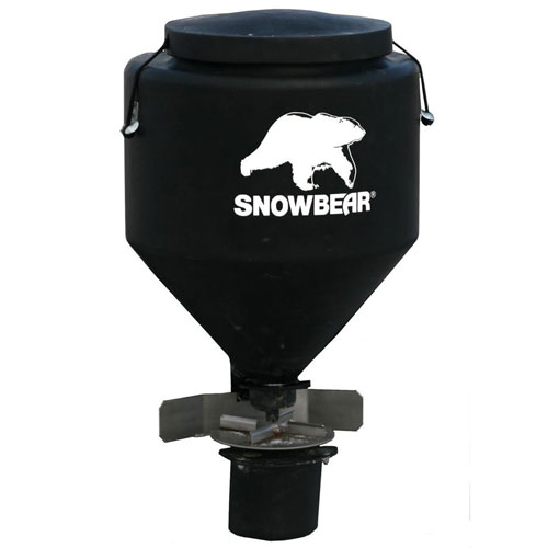 SnowBear Hitch Mounted Salt Spreader TGS-325, 250 lbs. Capacity with Wireless Remote by