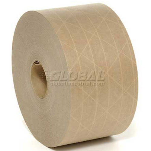 """3M 6147 Reinforced Water Activated Paper Tape 3"""" x 150 Yds. 6 Mil Kraft 10 Pack by"""