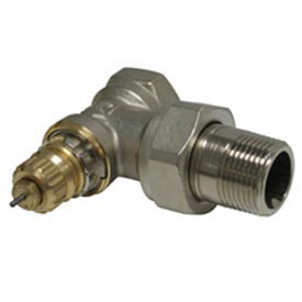 """Radiator or baseboard  valve body - 1/2"""" angle for 2-pipe steam"""